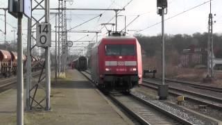 getlinkyoutube.com-Grenzbahnhof Bad Bentheim : IC Berlin - Amsterdam Lokwechsel