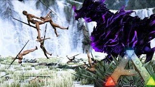 getlinkyoutube.com-Ark Survival Evolved - GODLINGS - Baby Dragon Gods vs Spear Tribe - Ark Gameplay