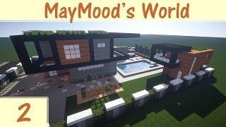 getlinkyoutube.com-كيف تبني: بيت عصري 1 - الحلقة 2: أحلى مسبح في ماين كرافت (Minecraft)