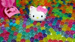 getlinkyoutube.com-Baby doll and Orbeez Hello Kitty toys & more Kinder Joy Surprise eggs