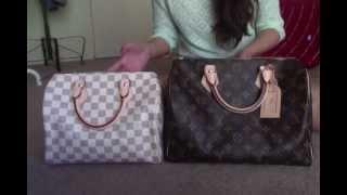 getlinkyoutube.com-Louis Vuitton Speedy 25 vs 30 Comparison