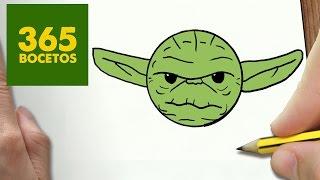 COMO DIBUJAR YODA KAWAII PASO A PASO - Dibujos kawaii faciles - How to draw a Yoda