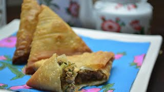 getlinkyoutube.com-Beef Samboosa || رمضان : سمبوسة لحم#