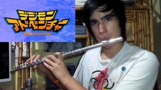 getlinkyoutube.com-Digimon opening Butterfly flute cover en flauta