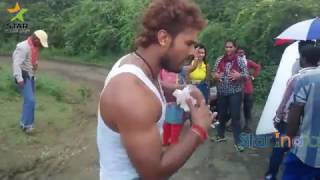 Khesari Lal Yadev Funny Dance & Songs From Movies shooting