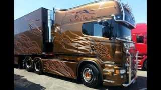 Scania R620 V8 Longline P.van den Blucke (STH) France interior - Black Amber replica (HD)