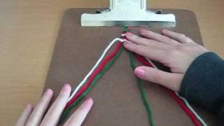 How to Make Friendship Bracelets: Inverse Chevron (super easy)