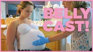 getlinkyoutube.com-PREGNANT BELLY CAST! - 36 Weeks Pregnant