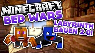 getlinkyoutube.com-Labyrinth bauen 2.0! - Minecraft Bed Wars (Deutsch/German)