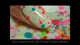 getlinkyoutube.com-Fun and Easy Splatter Party Nail Tutorial