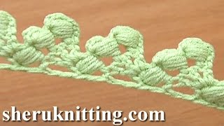 getlinkyoutube.com-Crochet Lace Tape Puff Stitch Around Post How to Tutorial 16 Lace Trim