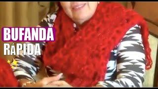 getlinkyoutube.com-Cómo tejer una BUFANDA - Prendas rápidas - Tejiendo con Laura Cepeda