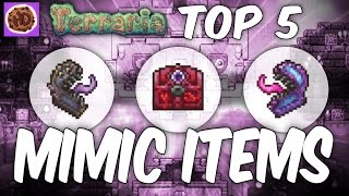 getlinkyoutube.com-Terraria Top 5 Mimic Drops | 1.3 Hallowed Crimson Corruption Mimic