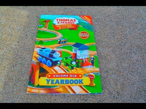 NEW 2014 Thomas Wooden Railway Yearbook - Fisher Price Toy Train Tank Engine Tale Of The Brave