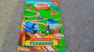 getlinkyoutube.com-NEW 2014 Thomas Wooden Railway Yearbook - Fisher Price Toy Train Tank Engine Tale Of The Brave