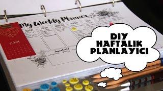 getlinkyoutube.com-Kendin Yap Haftalık Planlayıcı (Ajanda) / DIY Weekly Planner