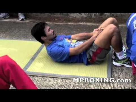 Road To Mosley, Manny Pacquaio's Core Workouts from Hell 3/16/11