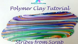 getlinkyoutube.com-Polymer Clay Tutorial - How to Make a Striped Sheet From Scrap Clay - Lesson #6