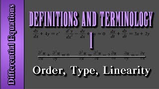 getlinkyoutube.com-Differential Equations: Definitions and Terminology (Level 1 of 4) | Order, Type, Linearity