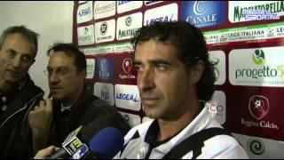 Il tecnico della Reggina Giacomo Tedesco dopo la vittoria col Messina nel derby