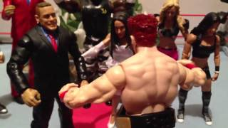 getlinkyoutube.com-GTS WRESTLING: Holy Moly Matrimony!! Tag team title match WWE wrestling figure matches animation