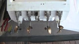 "getlinkyoutube.com-RC Boat Bitz 57"" Expresscraft brushless cat first fire up"