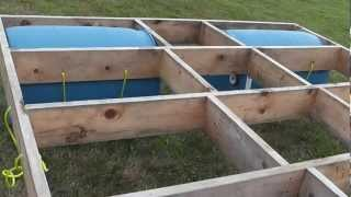 getlinkyoutube.com-Building a floating raft (using barrels) with children's slide