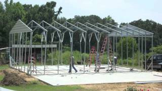 getlinkyoutube.com-Metal Building Construction in 2 Days