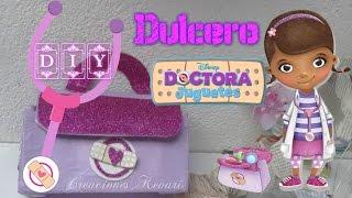 getlinkyoutube.com-Dulcero Maletín  Doctora Juguetes DIY  cajas de leche (Material Reciclado)/Doc McStuffins candy bag