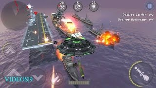 getlinkyoutube.com-GUNSHIP BATTLE : Fleet Attack  - Black Sun