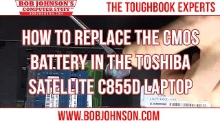 getlinkyoutube.com-How to Replace the CMOS Battery in the Toshiba Satellite C855D Laptop