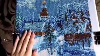 """getlinkyoutube.com-Вышивка бисером """"Сказочная зима"""". Отчёт 8"""