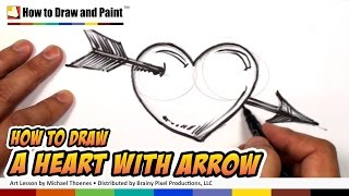 getlinkyoutube.com-How to Draw a Heart with Arrow - Heart Drawing Lesson - Art for Kids | MAT