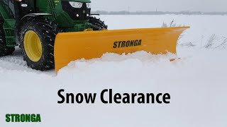 Stronga Snow Plough 230 F - Manitou-fitted snow clearance attachment