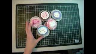 Baby Sock Cupcakes Video