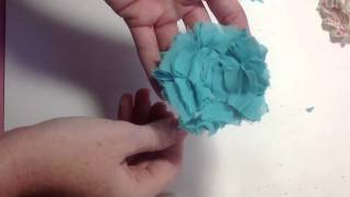 getlinkyoutube.com-Shabby Rosette Flower Tutorial
