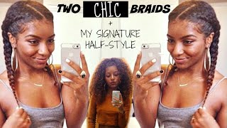 getlinkyoutube.com-Two Chic Braids | Natural Hair