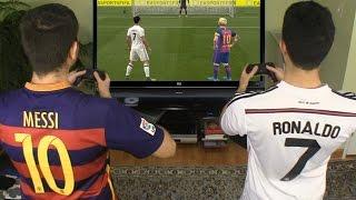 getlinkyoutube.com-Cristiano Ronaldo vs. Messi -  FIFA 17 Penalty Shootout | In Real Life!