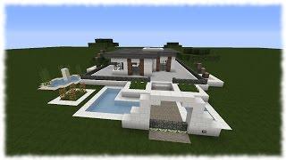 getlinkyoutube.com-Minecraft Tutorial - Wie baue ich ein schönes Haus #8 | Bungalow [+Download]