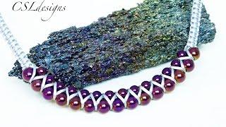 getlinkyoutube.com-Goddess macrame necklace