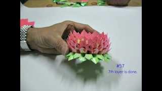 getlinkyoutube.com-How To Make An Origami Lotus (2nd version) 折纸莲花