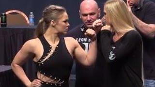 getlinkyoutube.com-UFC 193: Ronda Rousey vs. Holly Holm Staredown