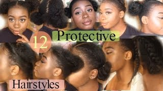 getlinkyoutube.com-12 Quick & Easy Awesome ✿Protective Hairstyles For Natural Hair✿