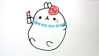 getlinkyoutube.com-How to draw Bunny Molang from Korea #022 몰랑 몰랑이 그리기 cute kawaii かわいい 可愛 손그림 귀여운 예쁜 캐릭터 그림 그리는 법