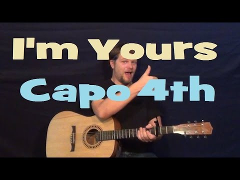 I'm Yours (Jason Mraz) Guitar Lesson Easy Strum  Chord Strum How to Play I'm Yours
