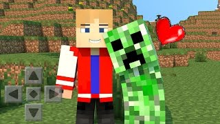getlinkyoutube.com-Minecraft PE 0.13.1: COMO DOMESTICAR UM CREEPER (Sem Mods)