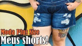 getlinkyoutube.com-|Moda Plus Size| Meus shorts! #VEDA16