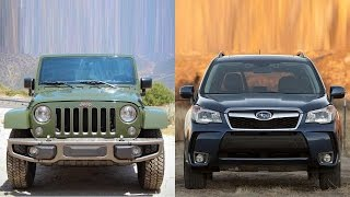 getlinkyoutube.com-2016 Jeep Wrangler Unlimited vs 2016 Subaru Forester