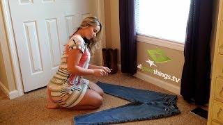 getlinkyoutube.com-Olivia Jensen DIY Distress Jeans