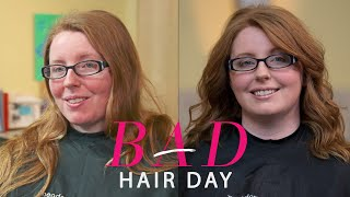 getlinkyoutube.com-How Side Swept Bangs and Light Layers Can Reinvent Your Look—Glamour's Bad Hair Day